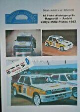 DECAL 1: 43 - RENAULT 5 turbo - RAGNOTTI - PROTOTYPE TDC RALLYE 1000 PISTES 1982
