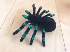 Black & Green Sparkle Spider hair Clip NEW 4x3 Halloween Rockabilly Punk Gothic