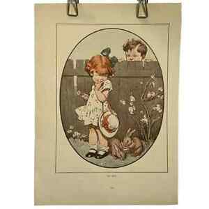 1920s Vintage Children's Print Inez Topham Original Book Page Illustration Sweet