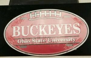 Ohio State Buckeyes Oval License Plate Car Truck Tag Football Man Cave Game Room