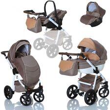 LCP Kids 3in1 Kombikinderwagen Lucato Beige Babywanne Buggy Babyschale 0-13 kg