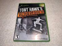 Tony Hawk's Underground (Microsoft Xbox, 2003) Complete Excellent!
