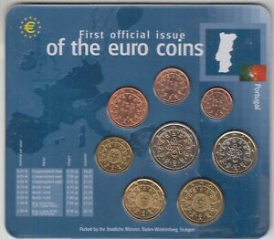PORTUGAL - 1 ct a 2 euros 2002 (sous blister)