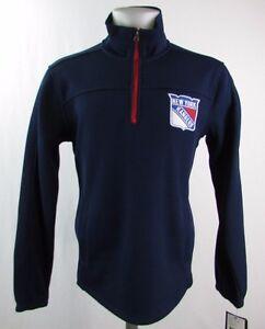 New York Rangers NHL Men's 1/4 Zip Pullover Bonded Track Jacket