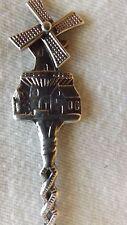 "Holland Dutch Souvenir Collector Spoon Silver Plated 4 3/4"" Sp37"