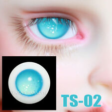 TATA glass eyes TS-02 14mm/16mm for BJD SD MSD 1/3 1/4 size doll use star blue