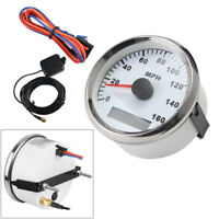 85mm White GPS Digital speedometer IP65 0-160MPH For Car Truck Marine Decent