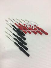 DIAGNOSTIC, AUTOMOTIVE BACK PROBES BLACK X5, RED X5,(SET OF 10)