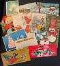 vintage christmas greeting cards lot Mid Century