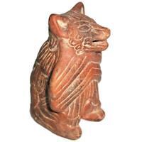 "Mexican Folk Art Clay Terracotta Pottery Aztec Maya, Colima Dog, 5 3/4"""