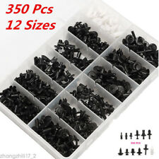 Universal 350pcs 12 Sizes Car Automotive Push Pin Rivet Trim Clip Panel Plastic