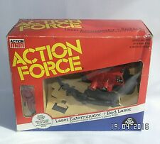 Action Force Red Shadow Laser Exterminator & Red Laser Boxed Palitoy Mint gi joe