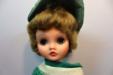 Vintage Deluxe Reading Candy doll wearing green white day dress shoes outfit
