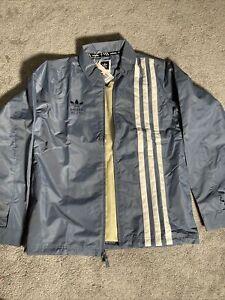 Adidas Civilian Jacket Steel/White Snow Board Classic Men's Size-Small DW4009