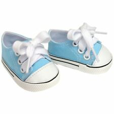 Blue Canvas Sneakers Fits 18 inch American Girl Dolls