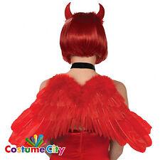 Adultos Demonio Diablo Rojo Pluma Alas Accesorio Disfraz De Halloween Disfraz