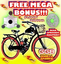 66cc/80cc 2-Stroke Motorized Bike Kit And Deluxe Cruiser Bike Diy Bicycle Power!