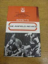 23/09/1972 Liverpool V Sheffield United (marchio sulla parte anteriore, macchiati bobfra angolo).
