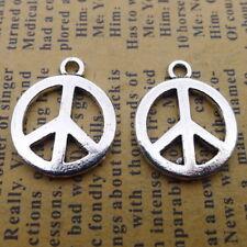 10pcs Charms Peace Symbol Tibetan Silver Beads Pendants DIY 20*16mm