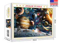 Space Puzzle 1000 Piece Jigsaw Puzzle Kids Adult ,Planets in Space Jigsaw Puzzle