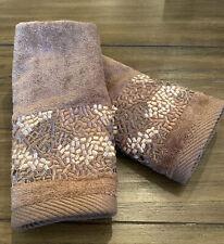 Croscill Home FTIP Towel Mosaic Mocha NWT