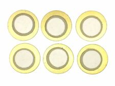 6x piezo-elemento ø12mm (e-drum-disparador, pickup, resonanzkörper, piezos, sensor)