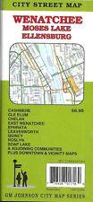City Street Map of Wenatchee, Moses Lake, Ellensburg, WA, by GMJ Maps
