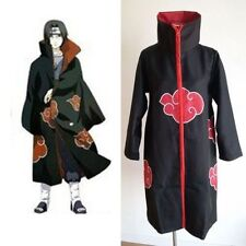 Naruto Akatsuki Uchiha Itachi Cloak Coat Anime Cosplay Costume Halloween 2XL