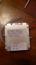 Power Amplifier Freq Band 550-900MHz /Gain 30dB ,8-10W, Used ,tested,VCC +9V  DC