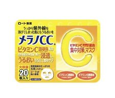 Rohto  Melano CC Vitamin C  intensive measures Face Mask 20 Sheets Made in Japan