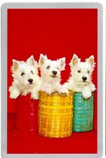 vintage Playing cards swap cards DOGS westie terrier