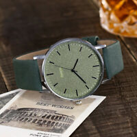 Womens Mens Fashion Dress Watches Leather Bracelet Quartz Wrist Watch Gift Hot