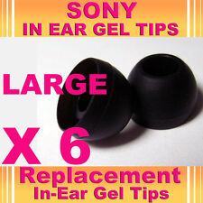 6 SONY MDR EX CX In Ear Buds HeadPhones Headset Earphones Gel Tips Large