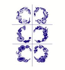 Armour Rub 'n' Etch Glass Etching Stencil Sheet  ~  Oval Florals