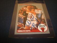 1990 NBA HOOPS #68 WILL PERDUE BULLS Vanderbilt SIGNED AUTHENTIC AUTOGRAPH