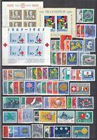 J3662/ SWITZERLAND – 1960 / 1969 MINT MODERN LOT – CV 125 $