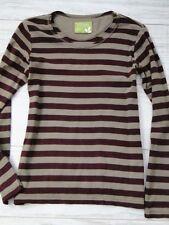 Gudrun Sjöden Gr. S Tunika Jersey gestreift Beige Braun100% Organic Cotton   /94