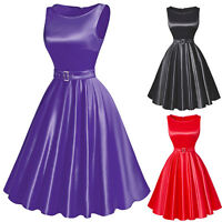 1950s 1960s Vintage Retro Women Dresses Swing Pinup Full Circle Party Prom Dress