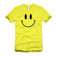 Retro Smiley Face Vintage Old School Retro Funny 80's Yellow T-Shirt