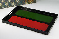 NEW Japan Modern-style Wooden Tray Red Green Black Free Shipping 701k01