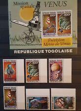 927.Briefmarken Raumfahrt Space Togo 1978 Mi.1294-99+Bl.132,postfrisch