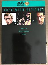 Clint Eastwood BULLITT Dirty Harry NICO ~ Cops With Attitude UK DVD Box Set