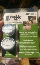 Shoulder Align Golfball Clips New But No Alignment Rod Improve Golf Swing