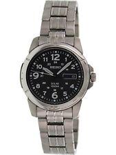 Seiko Men's Solar SNE095 Black Stainless-Steel Quartz Fashion Watch