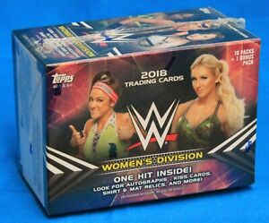 2018 TOPPS Factory Sealed BLASTER Box of WWW WOMEN'S DIVISION - 71 Total Cards