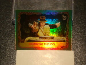 """2013 TOPPS 75TH ANNIVERSARY """"RAIDERS OF THE LOST ARK"""" RAINBOW FOIL PARALLEL CARD"""