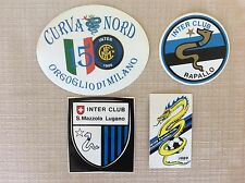 4  ADESIVI CALCIO INTER F.C. CLUB ULTRAS ULTRA' BOYS CURVA NORD LUGANO CLUB   Y