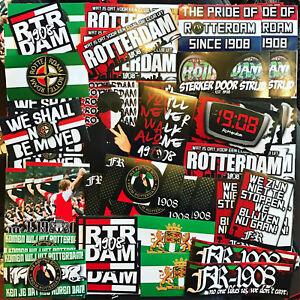 100 x Feyenoord Stickers inspired by Ultra Aufkleber De Kuip Badge Flag Scarf