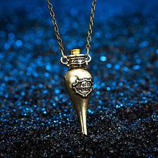 Felix Felicis Pendant Antique Bronze Coloured Liquid Luck Potion Bottle Necklace