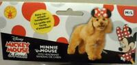 NEW DISNEY MINNIE MOUSE EARS HEADBAND PUPPY DOG PET DRESS UP COSTUME SIZE M/L